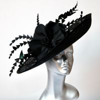 16365 Black MOB/MOG Wedding Hat Hatinator SD716